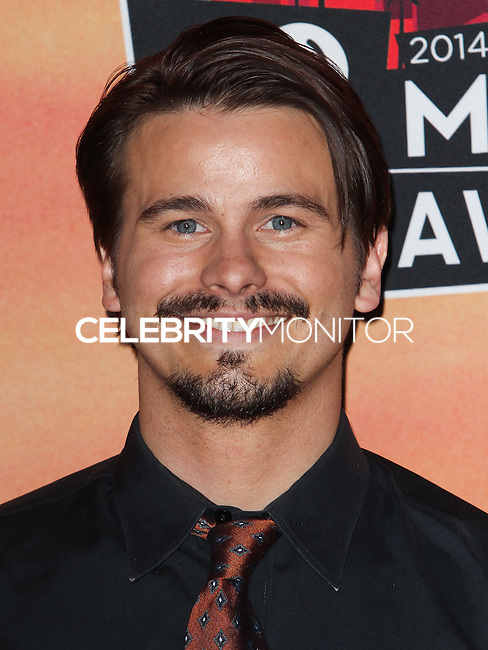 LOS ANGELES, CA, USA - MAY 01: Jason Ritter in the press room at the iHeartRadio Music Awards 2014 held at The Shrine Auditorium on May 1, 2014 in Los Angeles, California, United States. (Photo by Celebrity Monitor)