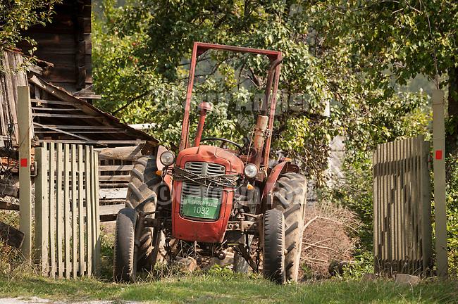 1980s Yugoslavian-made IMT-539 Del Luxe tractor (Furguson copy), Mokra Gora, Serbia.