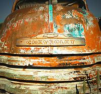 Orange & Turquoise Chevy - New Mexico