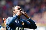 Nederland, Heerenveen, 6 mei 2012.Seizoen 2011/2012.Eredivisie.Heerenveen-Feyenoord 2-3.Elvis Manu van Feyenoord juichet na het scoren van de 1-3