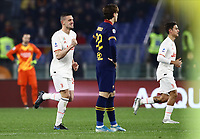 12th January 2020; Stadio Olympico, Rome, Italy; Italian Serie A Football, Roma versus Juventus; Merih Demiral of Juventus celebrates after scoring 3 minutes for 1-0