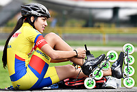 BOGOTA - COLOMBIA - 27 - 06 - 2017: Daniela Mendoza, patinadora de la Selección Colombia de Carreras Manzana Postobon, prepara sus patines, durante entreno en el Patinodromo El Salitre de la Ciudad de Bogota. La selección Colombia de Patinaje de Carreras, entrena en la capital de la república, con miras a los eventos internacionales del año, Los World Games en Polonia en el mes de julio; Los Roller Games en China, en el mes de septiembre y los Juegos Bolivarianos en Colombia, en el mes de noviembre. /  Daniela Mendoza, skater of the Colombia team of Skating Races Manzana Postobon, prepares his skates, during training in the Patinodrome El Salitre of the City of Bogota. The Colombia Team of Skating Races, trains in the capital of the republic, with a view to the international events of the year, The World Games in Poland in the month of July; The Roller Games in China, in September and the Bolivarian Games in Colombia, in November. / Photos: VizzorImage / Luis Ramirez / Staff.