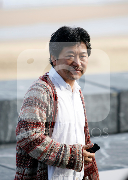 Director Hirokazu Kore-eda posses during the 61 San Sebastian Film Festival, in San Sebastian, Spain. September 20, 2013. (ALTERPHOTOS/Victor Blanco)