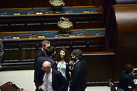 Roma, 20 Aprile 2013.Camera dei Deputati.Votazione del Presidente della Repubblica a camere riunite..Deputati e Senatori de Movimento 5 Stelle .Roberto Fico