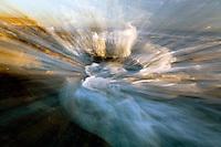 A wave explodes over a rock on the gaviota coast of santa barbara california