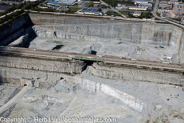 aerial photograph Thorton Quarry, Thorton, Illinois