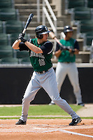 Augusta left fielder Tyler Graham (16) at bat versus Kannapolis at Fieldcrest Cannon Stadium in Kannapolis, NC, Monday, September 3, 2007.