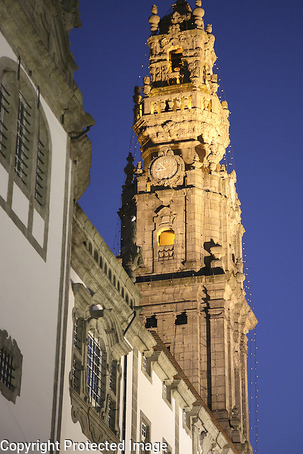 Clerigos Church and Tower designed by Nasoni, Porto - Oporto, Portugal