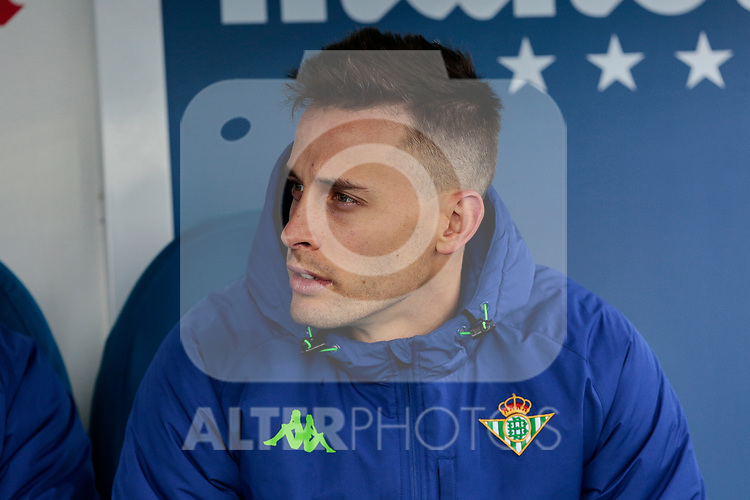 Real Betis Balompie's Sergio Canales during La Liga match between CD Leganes and Real Betis Balompie at Butarque Stadium in Madrid, Spain. February 10, 2019. (ALTERPHOTOS/A. Perez Meca)