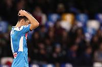 Hirving Lozano of Napoli dejection<br /> Napoli 01-12-2019 Stadio San Paolo <br /> Football Serie A 2019/2020 <br /> SSC Napoli - Bologna FC<br /> Photo Cesare Purini / Insidefoto