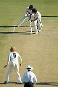 November 4th 2017, WACA Ground, Perth Australia; International cricket tour, Western Australia versus England, day 1; Dawid Malan miss times a shot against Kyle Gardiner during his in nings