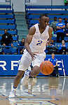 January 24, 2017:  Air Force guard, CJ Siples #2, brings the ball down court during the NCAA basketball game between the San Diego State Aztecs and the Air Force Academy Falcons, Clune Arena, U.S. Air Force Academy, Colorado Springs, Colorado.  Air Force defeats San Diego State 60-57.