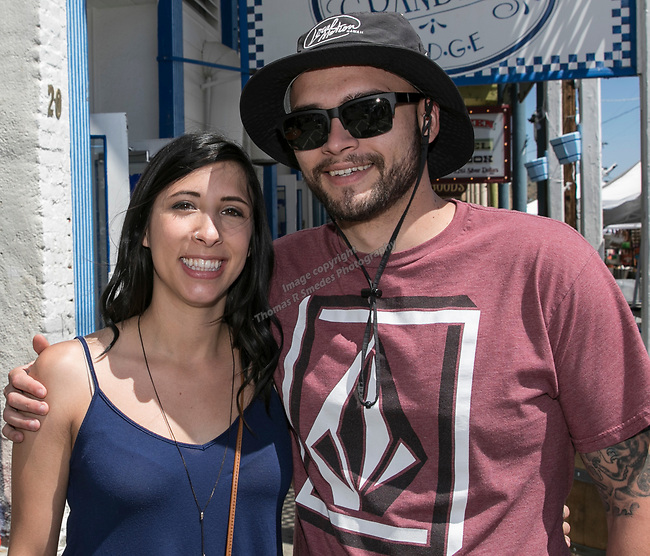 Katelan Scherer and Ben Chiarella at the 34th Annual Chili on the Comstock Cook Off in Virginia City on Sunday, May 21, 2017.