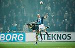 Stockholm 2014-04-16 Fotboll Allsvenskan Djurg&aring;rdens IF - AIK :  <br /> Djurg&aring;rdens Vytautas Andriuskevicius i en nickduell med AIK:s Eero Markkanen <br /> (Foto: Kenta J&ouml;nsson) Nyckelord:  Djurg&aring;rden DIF Tele2 Arena AIK