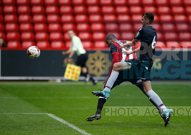 Leon Clarke of Sheffield Utd scores the winning goal during the Professional Development U23 match at Bramall Lane, Sheffield. Picture date 4th September 2017. Picture credit should read: Simon Bellis/Sportimage