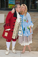 Russell Grant and Holly Brewer at the Photocall to launch Cinderella Pantomime, Aylesbury Waterside Theatre, Buckinghamshire. 15/09/2014 Picture by: Dave Norton / Featureflash