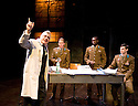 Little Eagles by Rona Munro. A Royal Shakespeare Company Production directed by Roxana Silbert. With Darrell D'Silva as Korolyov, Oliver Ryan as Leonarov,Ansu Kabia as Komarov,Dyfan Dwyfor as Yuri Gagarin. Opens at The Hampstead  Theatre on 21/4/11 CREDIT Geraint Lewis