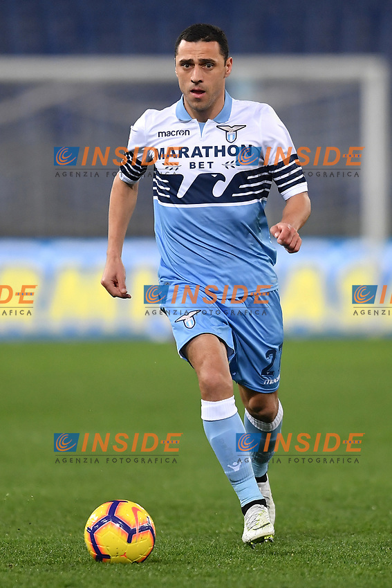 Romulo of Lazio in action during the Serie A 2018/2019 football match between Lazio and Empoli at stadio Olimpico, Roma, February 7, 2019 <br />  Foto Andrea Staccioli / Insidefoto
