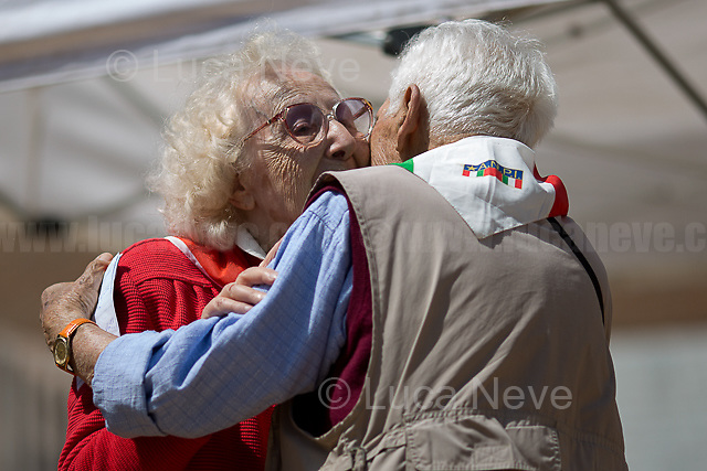 "Iole Mancini & Arnaldo ""Nando"" Cavaterra (Antifascist Partizans. Members of the Partigiani: the Italian Resistance during WWII).<br />