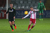 Harry Beautyman of Stevenage during Stevenage vs Brighton & Hove Albion Under-21, Checkatrade Trophy Football at the Lamex Stadium on 7th November 2017