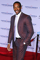 "HOLLYWOOD, LOS ANGELES, CA, USA - MARCH 13: Anthony Mackie at the World Premiere Of Marvel's ""Captain America: The Winter Soldier"" held at the El Capitan Theatre on March 13, 2014 in Hollywood, Los Angeles, California, United States. (Photo by Xavier Collin/Celebrity Monitor)"