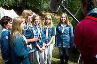 Jamboree TV-channel asking feelings during kings visit. Photo: Mikko Roininen / Scouterna