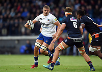 Tom Ellis of Bath Rugby in possession. Pre-season friendly match, between Edinburgh Rugby and Bath Rugby on August 17, 2018 at Meggetland Sports Complex in Edinburgh, Scotland. Photo by: Patrick Khachfe / Onside Images