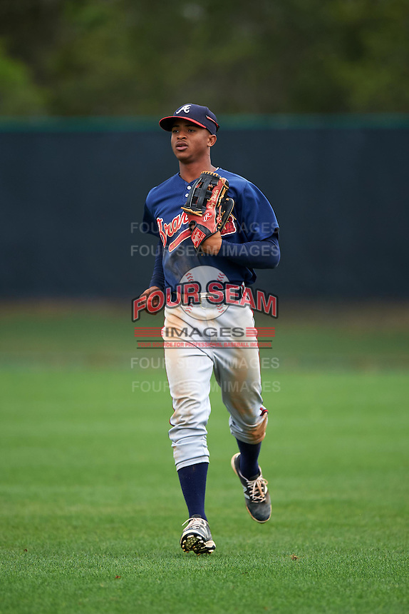 Atlanta Braves Ray-Patrick Didder (14) during an intrasquad Spring Training game on March 29, 2016 at ESPN Wide World of Sports Complex in Orlando, Florida.  (Mike Janes/Four Seam Images)