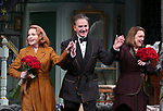 Kate Burton, Kevin Kline and Kristine Nielsen during Broadway Opening Night  curtain call for 'Present Laughter' at the St. James Theatre on April 5, 2017 in New York City.