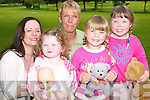 Taking it all in their stride for Enable Ireland at the charity toddle in the Listowel town park on Thursday morning were Evelyn and Catherine Kennedy with Maggie, Kiera and Megan Large from the Knockanure Parent and Toddler group.   Copyright Kerry's Eye 2008
