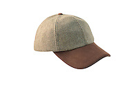 Commercial Packshot of the Valley Derby Tweed Baseball Cap