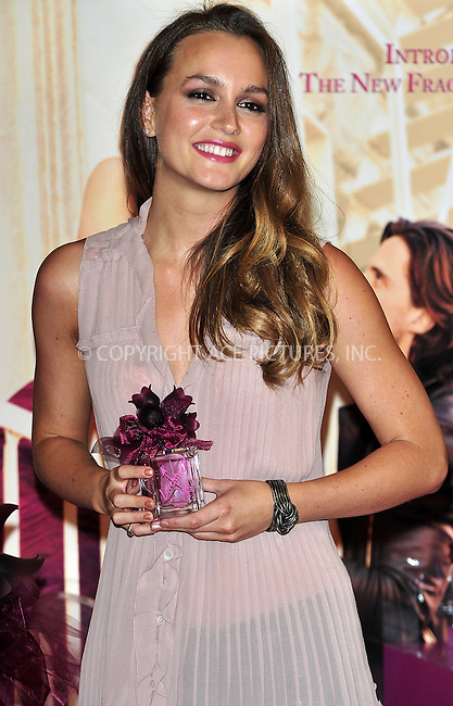 WWW.ACEPIXS.COM . . . . .  ..... . . . . US SALES ONLY . . . . .....June 9 2011, London....Actress Leighton Meester at the launch of the new fragrance 'Vera Wang Lovestruck' by Vera Wang at Harrods on June 9 2011 in London....Please byline: FAMOUS-ACE PICTURES... . . . .  ....Ace Pictures, Inc:  ..Tel: (212) 243-8787..e-mail: info@acepixs.com..web: http://www.acepixs.com