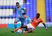Blackpool's Sullay Kaikai vies for possession with Coventry City's Liam Walsh<br /> <br /> Photographer Chris Vaughan/CameraSport<br /> <br /> The EFL Sky Bet League One - Coventry City v Blackpool - Saturday 7th September 2019 - St Andrew's - Birmingham<br /> <br /> World Copyright © 2019 CameraSport. All rights reserved. 43 Linden Ave. Countesthorpe. Leicester. England. LE8 5PG - Tel: +44 (0) 116 277 4147 - admin@camerasport.com - www.camerasport.com