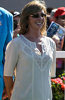 Carla Gaines trainer of John Scott (#6) winner of the Harry F. Brubaker Stakes at Del Mar Race Course in Del Mar, California on September 1, 2012.