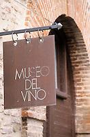 Europe/Italie/Ombrie/Torgiano : Musée du vin créé par les Lungarotti