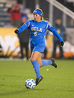 Lauren Kaskie (6) of UCLA brings the ball forward during the NCAA Women's College Cup finals at WakeMed Soccer Park in Cary, NC.  UCLA defeated Florida State, 1-0, in overtime.