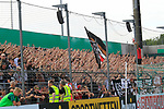 11.08.2019, Stadion Lohmühle, Luebeck, GER, DFB-Pokal, 1. Runde VFB Lübeck vs 1.FC St. Pauli<br /> <br /> DFB REGULATIONS PROHIBIT ANY USE OF PHOTOGRAPHS AS IMAGE SEQUENCES AND/OR QUASI-VIDEO.<br /> <br /> im Bild / picture shows<br /> Die Fans des FC St. Pauli jubeln.<br /> <br /> Foto © nordphoto / Tauchnitz