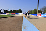 Getting the old Roubaix velodrome ready the upcoming 115th edition of the Paris-Roubaix 2017 running 257km from Compiegne to Roubaix, France. 8th April 2017.<br /> Picture: Eoin Clarke | Cyclefile<br /> <br /> <br /> All photos usage must carry mandatory copyright credit (&copy; Cyclefile | Eoin Clarke)