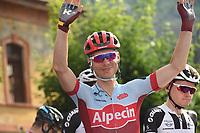 26th May 2018, Giro D italia; stage 20 Susa to Cervinia; Katusha - Alpecin; Martin, Tony; Susa;