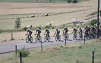 Team Sunweb pacing the peloton to control the race in service of Polka Dot Jersey / KOM leader Warren Barguil (FRA/Sunweb) &amp; Michael Matthews (AUS/Sunweb)<br /> <br /> 104th Tour de France 2017<br /> Stage 16 - Le Puy-en-Velay &rsaquo; Romans-sur-Is&egrave;re (165km)