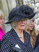 Prince Charles & Camilla Attend Mark Shand Funeral - UK