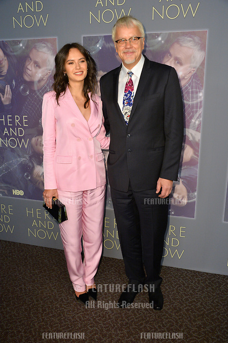 Tim Robbins &amp; Gratiela Brancusi at the premiere for HBO's &quot;Here and Now&quot; at The Directors Guild of America, Los Angeles, USA 05 Feb. 2018<br /> Picture: Paul Smith/Featureflash/SilverHub 0208 004 5359 sales@silverhubmedia.com