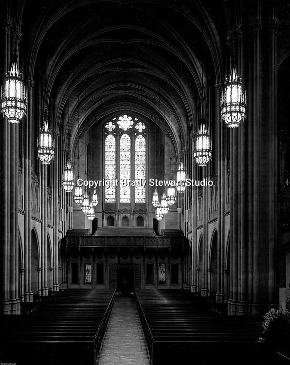 East Liberty PA:  View of the Chapel inside the East Liberty Presbyterian Church.<br /> Brady Stewart Jr photographed the interior and exterior of the church in 1976. The photographs were used to illustrate The Art and Architecture of the East Liberty Presbyterian Church - published in 1977. The church was completed in 1935 and was a gift from Mr and Mrs Richard Beatty Mellon, a grandson of the original donors of the property where the church had its first site.