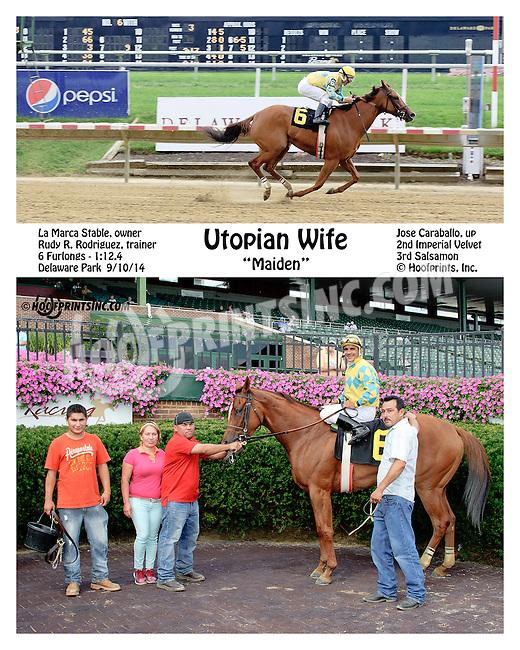 Utopian Wife winning at Delaware Park on 9/10/14