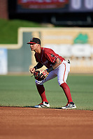 Altoona Curve second baseman Stephen Alemais (2) during a game against the Richmond Flying Squirrels on May 15, 2018 at Peoples Natural Gas Field in Altoona, Pennsylvania.  Altoona defeated Richmond 5-1.  (Mike Janes/Four Seam Images)