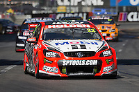 James Courtney of the Holden Racing Team wins the Clipsal 500, Event 01 of the 2015 Australian V8 Supercars Championship Series at the , , , March 01, 2015.<br /> &copy; Sport the library / Mark Horsburgh