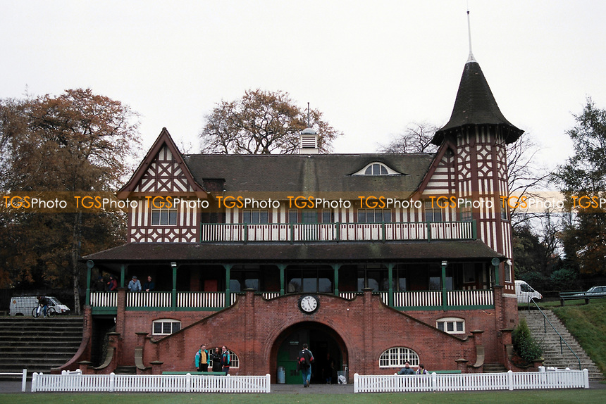 The pavilion at Cadburys Sports Ground, Bournville Lane, Bournville, Birmingham, pictured on 24th October 1993