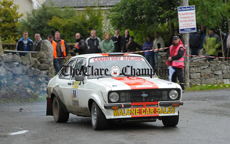 Pa Malone of Darragh with navigator Gareth Quinn in action during Stage 3 of the Clare Stages Rally at Ruan. Photograph by John Kelly.