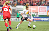 Portland, OR - Sunday Oct. 02, 2016: McCall Zerboni during a National Women's Soccer League (NWSL) semi-finals match between the Portland Thorns FC and the Western New York Flash at Providence Park.