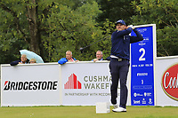 Stuart Manley (WAL) tees off the 2nd tee during Sunday's Final Round of the Northern Ireland Open 2018 presented by Modest Golf held at Galgorm Castle Golf Club, Ballymena, Northern Ireland. 19th August 2018.<br /> Picture: Eoin Clarke | Golffile<br /> <br /> <br /> All photos usage must carry mandatory copyright credit (&copy; Golffile | Eoin Clarke)